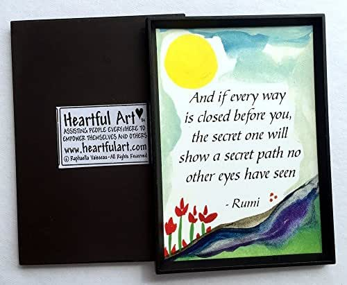 And if every way is closed before you 2x3 Rumi magnet - Heartful Art by Raphaella Vaisseau