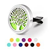 in car air freshener - Aromatherapy Car Diffuser, GerTong Vent Clip Essential Oil Diffuser for Car Air Freshener, 11 Refill Pads (Tree)