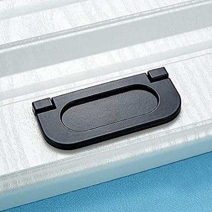 Negro Color : Silver Tiradores de arco manija del gabinete 5 PCS del gabinete del caj/ón de puerta simple moderna mango plano