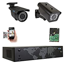 GW Security 8 Channel NVR H.265 License Plate PoE Security Camera System with 1 x 5MP 1920p 2.8-12mm Varifocal Bullet IP Camera and 1 x 3M 1536p IP License Plate Camera
