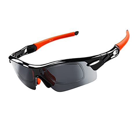 8ab9b64e43c Yomeni Polarized Sports Sunglasses With 5 Interchangeable Lenes for Men  Women Cycling Running Driving Fishing Golf