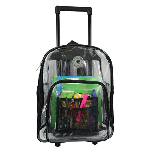 Amazon.com | K-Cliffs Rolling Clear Backpack Heavy Duty See ...