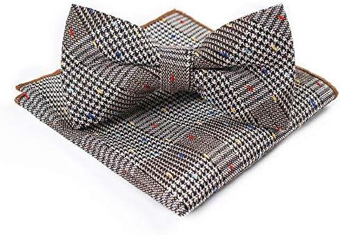 SXFZC Corbata de Hombre, Toalla de Bolsillo de algodón con Doble ...