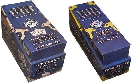 Fantasy Flight Games 500 Fundas de tamaño estándar para Juegos de Cartas y 500 Fundas de tamaño Mini Americano, 10 Paquetes + Cajas: Amazon.es: Juguetes y juegos