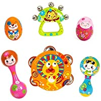 Smartcraft Rattle Musical Instrument Set, Early Education 0-1 Years Olds Baby Musical Instruments Toy Rattle Set for Baby and Kids