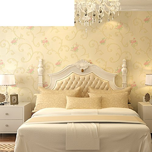European-style rustic wall/ non-woven wallpaper/Bedroom romantic Pink wallpaper/ acanthus leaves wallpaper-C