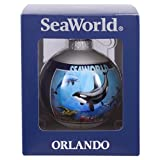 SeaWorld Orlando City Collage Glass Ornament