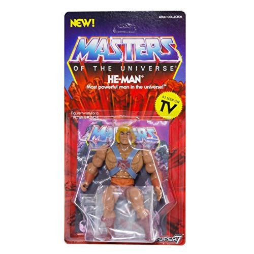 - Masters of The Universe He-Man Vintage 5 1/2-Inch Action Fig Standard