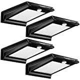 TomCare 20 LED Solar Lights Solar Motion Sensor Outdoor Light Solar Powered Wireless Waterproof Exterior Security Wall Light Patio,Deck,Yard,Garden,Path,Home,Driveway,Stairs,NO DIM MODE(4)