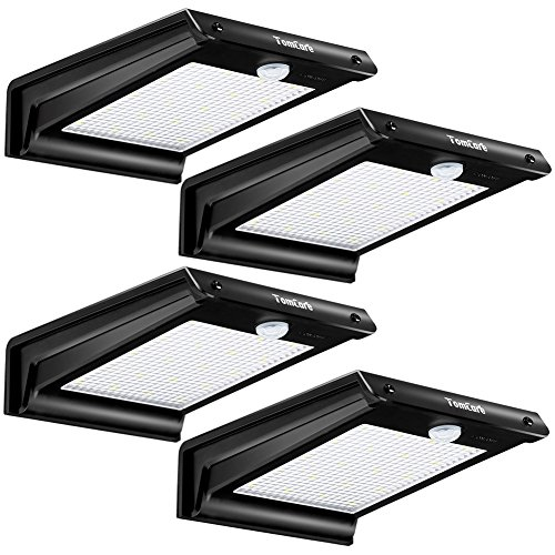 20 LED Solar Lights Solar Motion Sensor Outdoor Light Solar Powered Wireless Waterproof Exterior Security Wall Light for Patio,Deck,Yard,Garden,Path,Home,Driveway,Stairs,NO DIM MODE (Exterior Deck Lighting)