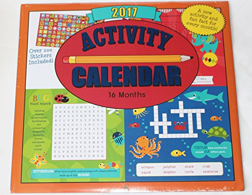 Paper Craft 2017 Kids Childrens 16 Month Calendar with over 100 Stickers (Activity)