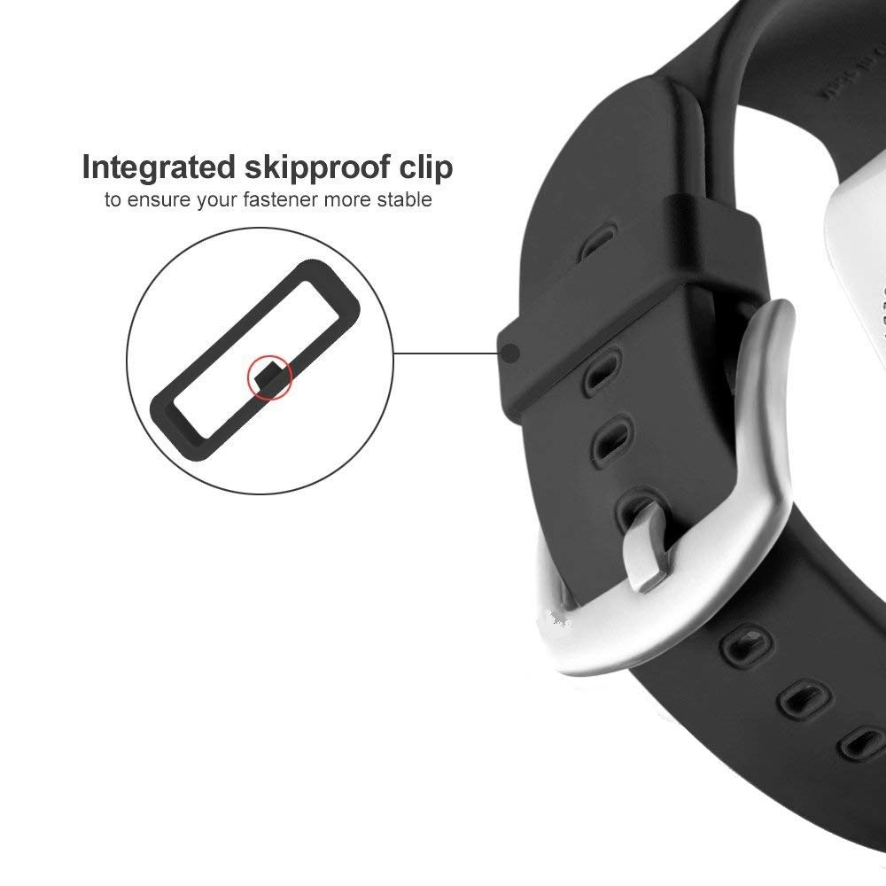 Replacement Fastener Rings Compatible with Garmin Fenix 5S//Fenix 5S Plus//Fenix 5S Sapphire Bands Silicone Connector Security Loop Keepers Ring for Fenix 5S Smartwatch,Black Pack of 11