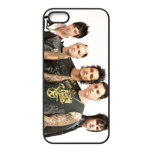 Avenged Sevenfold 001 coque iPhone 5 5S cellulaire cas coque de téléphone cas téléphone cellulaire noir couvercle EOKXLLNCD21850