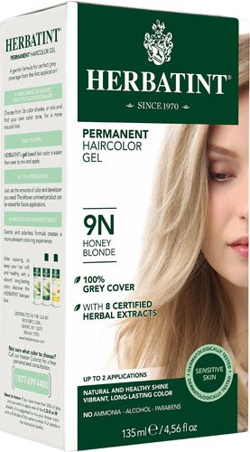 Herbatint Permanent Haircolor Gel 9N Honey Blonde -- 135 mL - 2pc by Herbatint