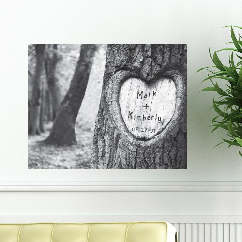 Personalized Tree of Love Canvas Sign Includes Names and The Special Date - Perfect Gift for Anniversary, Wedding, Engagement 18