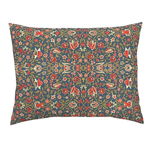 Roostery Floral Standard Knife Edge Pillow Sham Vintage Garden Trellis Ancient Arabic Botanical Persian Ethnic by Hypersphere 100% Cotton - Standard Sham Trellis Garden