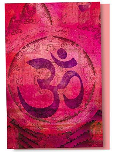 Rosa Om en blanco en caja tarjetas de Nota con sobres, todo ocasión (12unidades), New Age Tarjetas para los amantes de...