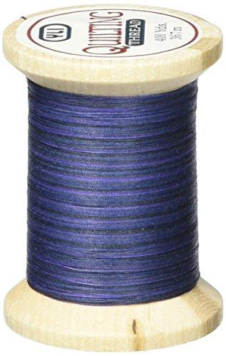 (YLI 21104-V85 Variegated Cotton Hand Quilting Thread, 400 yd, Blue )