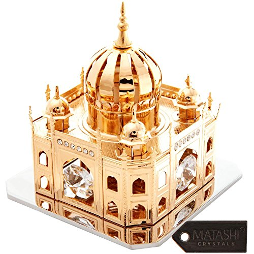 24K Gold Plated Crystal Studded Mosque Ornament by Matashi ()