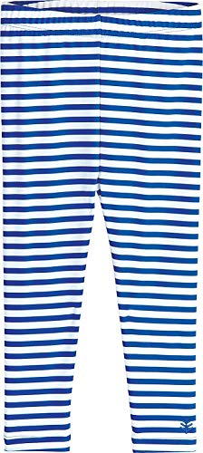 (Coolibar UPF 50+ Baby Wave Swim Tights - Sun Protective (3T- Blue Wave Stripe))