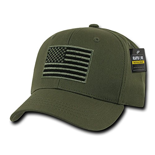 (Rapid Dominance USA American Flag Embroidered Operator Cap - Olive)