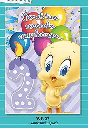 Tarjeta Felicitación 2 años Segundo cumpleaños niña Lila ...
