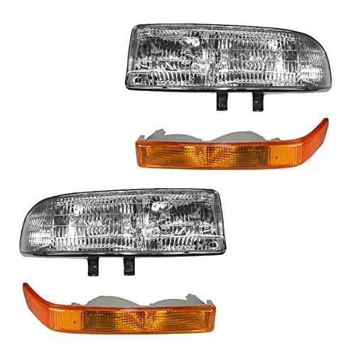 (Headlight & Corner Light Kit Set of 4 for S10 S15 Pickup Blazer Jimmy)