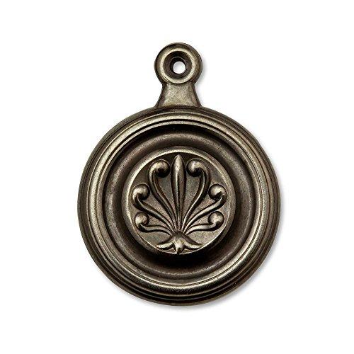 Fleur-de-lis Antique Brass - 1-3/4