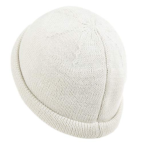 ililily Cap Solid Vintage Knitted Soft Color Beanie Ivory Hat Casual Short T4rwxTAzq