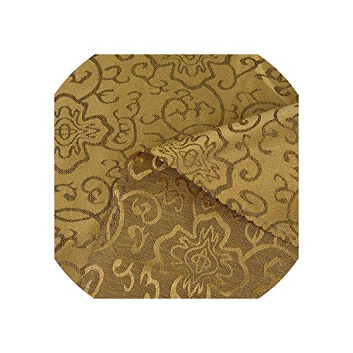 1PC Chinese Floral Hotel Banquet Table Cloth Round Restaurant Thick Polyester Tablecloth Home Table Cover Coffee/Yellow,Coffee,Square 120x180cm