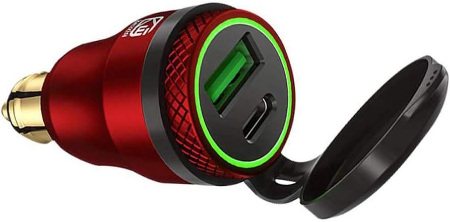 Ranuw Motorbike QC3.0 USB Type C PD Fast Charger Power Adapter DIN Plug Socket For Motorcycle 12V 24V