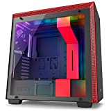 NZXT H700i Mid-Tower Computer Case with digital fan control and RGB lighting, Black/Red (CA-H700W-BR)