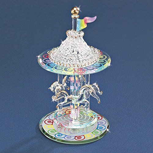 Glass Baron Carousel Figurine