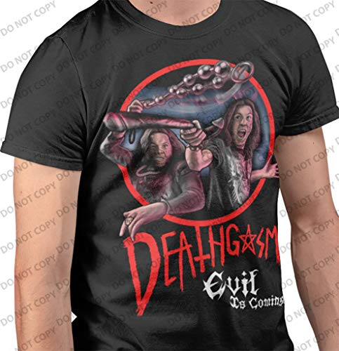 Deathgasm - Fighting Demons T-Shirt Double Sided Officially Licensed (Large) Black