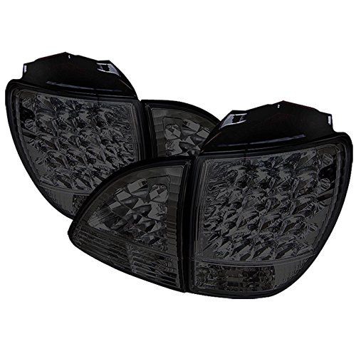 For 2001-2003 Lexus RX300 SUV XU10 Smoked Lens LED Tail Brake Light Lamps (Outer + Inner) ()