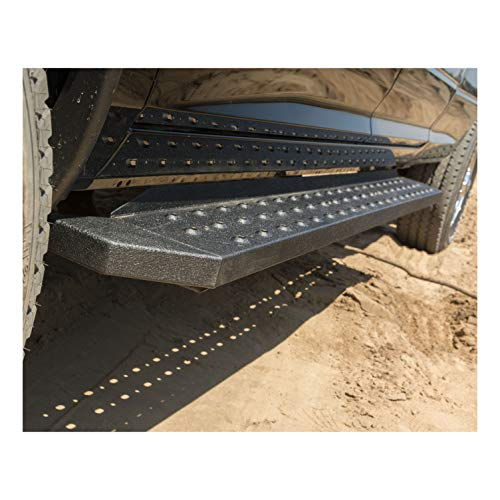 ARIES 2055528 RidgeStep Black Steel 85-Inch Truck Running Boards for Select Toyota Tundra