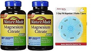 Naturaleza hizo cápsulas de citrato de magnesio, 120 Count (paquete de 2) con