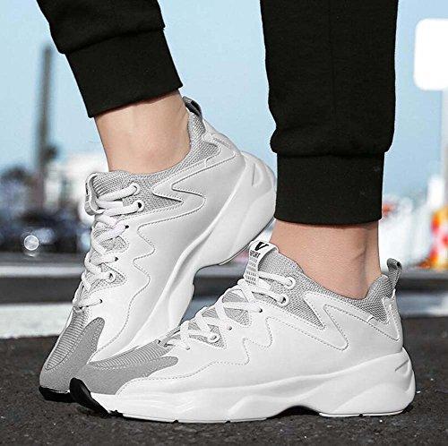 Verano Casuales nuevos y de Primavera Transpirables Coreanos Zapatos MYI Ejecutan Zapatos Zapatos Que Deportivos Blanco se Marea de Zapatos de aumentados los Hombres wXYIY08q1