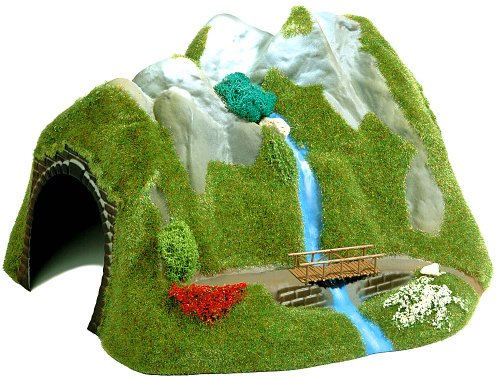 Busch 3007 Cry Tunnel with Waterfall HO Scenery Scale Model Scenery