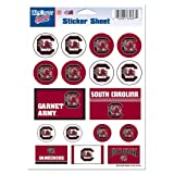 "NCAA University of South Carolina Vinyl Sticker Sheet, 5"" x 7"""