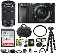 Ignite your creativity with the Sony Alpha a6000 24.3MP Mirrorless Digital Camera. This camera features the world's fastest autofocus which allows you to capture instant shots from fast action to candid. You can capture amazing shots a...