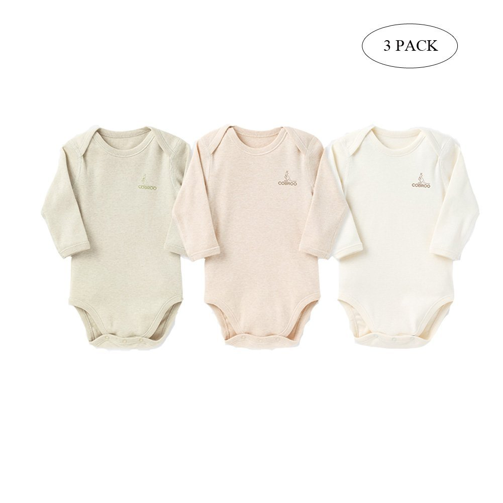 COBROO Newborn Baby Bodysuit Underwear Baby Clothes Set 3 Pack (0-9 Months) Le En CA-NY550015