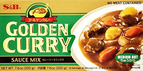 S&B Golden Curry Sauce Mix, Medium Hot, 7.8 - Curry Sauce Mix Golden