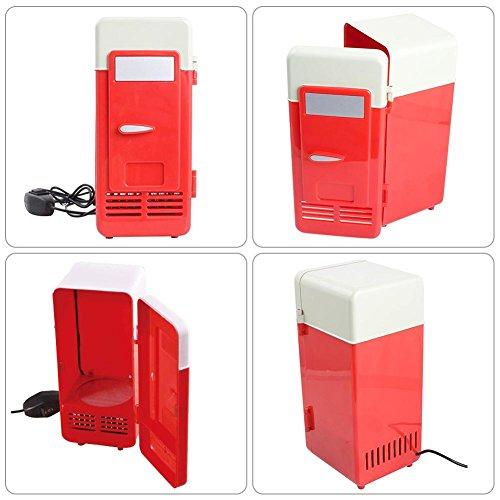 Sundlight USB Fridge, 5V USB Power Operated Portable Mini Beverage Cooler Fridge Cooler Electronic Medicine Use for Car,Office,Home by Sundlight (Image #6)