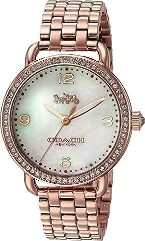 COACH Women's Delancey 36mm Bracelet Rose Gold Watch (Coach Women Gold Watch)