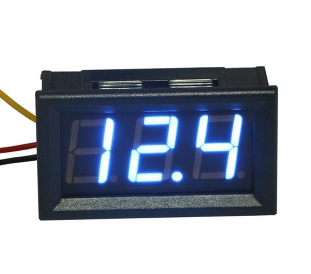 Demarkt drei Linien DC Voltmeter 0, 56 Zoll LED Digitalvoltmeter DC 0V-30.0V Verpolungsschutz