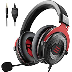 EKSA Xbox One Headset, Mac Gaming Headset, PS4 PC Gaming Headphones, Soft Memory Earmuffs for PC/Mac/Laptop/Switch with…