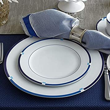 Mikasa Jet Set Blue Salad Plate 8-1//4-Inch, Set of 4
