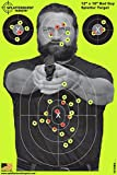 Splatterburst Targets - 12 x18 inch - Bad Guy Reactive Shooting Target - Shots Burst Bright Fluorescent Yellow Upon Impact - Gun - Rifle - Pistol - Airsoft - BB Gun - Air Rifle (10 Pack)
