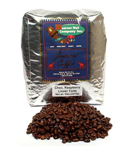 Weaver Nut Chocolate Raspberry Linzer Torte Whole Bean Coffee (5 LB.) ()